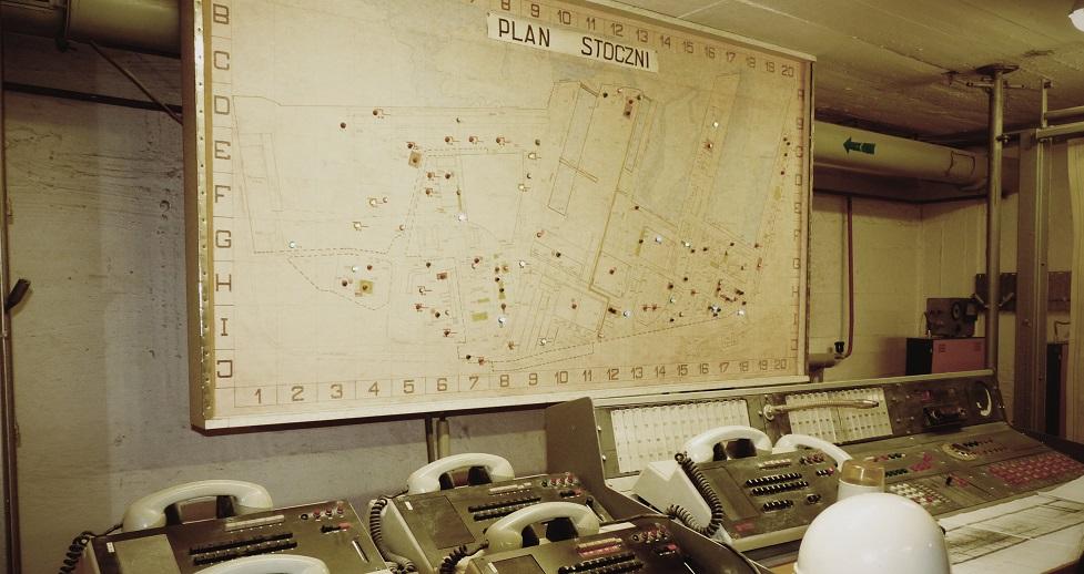 Centrum dowodzenia atomowego schronu