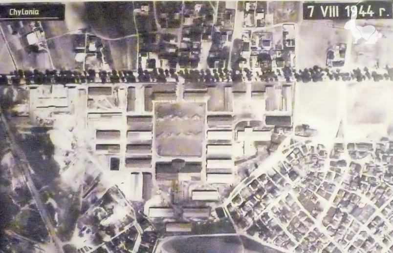 Zdjęcie lotnicze obozu Nussdorf